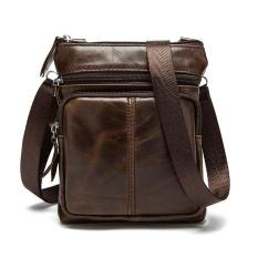 30bbf48eba56 PASTE Genuine Leather Men Crossbody Bags Designer Vintage Small Flap Satchel  Casual Men s Cow Leather Shoulder