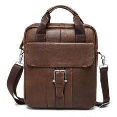 PASTE Genuine Leather Men Messenger Bags Men Crossbody Bags Casual Small Flap Men's Cow Leather Belt
