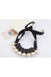 Pearl Jewelry Pendant  Choker  Neck Black