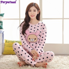 f33f254f48 Perpetual New Style Spring Summer Long Sleeve Thin Mother and Daughter Home Suits  Pajamas Set Baby