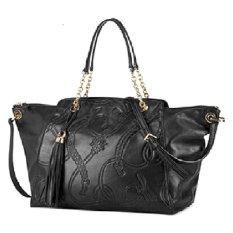 0a874ef655eb Lauren by Ralph Lauren Pickford Convertible Satchel Shoulder Bag (Black)