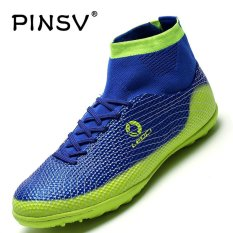 Pinsv Mens Outdoor Futsal Shoes Boots Spike Soccer Shoes (blue) - Intl By Pinsv.