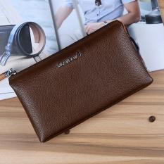 PLAYBOY casual leather business handbag men's wallet (Brown color PCA2621-6C) (Brown