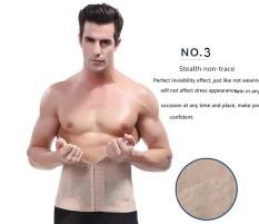 a204a198fd Male Waist Trainer Steel Bone Men Vest Body Shaper Tummy Tuck Belt Weight  Loss Corset Belly