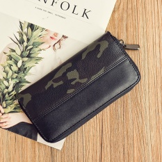 Popular brand Japan and South Korea mens long zip camouflage clutch bags wallet (Deep embossed leather camouflage) Women Bags Bag for Women Wallets ...