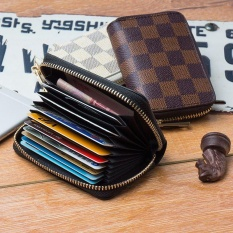 Womens card holders for sale card holder bags online brands pu leather credit card holder travel wallet for men and women lattice brown intl reheart Images