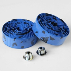 Quality 1 Pair Flexible Rubber Bike Tape Bicycle Bar Cork Handlebar Wrap Bar Plug - Intl By Mingrui.