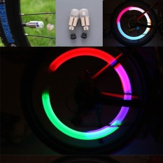 Quality 2pcs Led Wheel Tire Valve Light Flashing Cap Car Lamp Decorate Gorgeous Night - Intl By Mingrui.