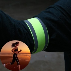 Quality Outdoor Sports Night Running Bike Safety Reflective Arm Band Belt Strap - Intl By Mingrui.
