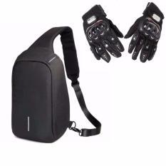 b23bf81270 Reflectorized Fashionable Anti-theft Crossbody Bag(Black) WITH Pro-Biker  Carbon Fiber
