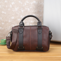 Vintage horse leather New style mens bag