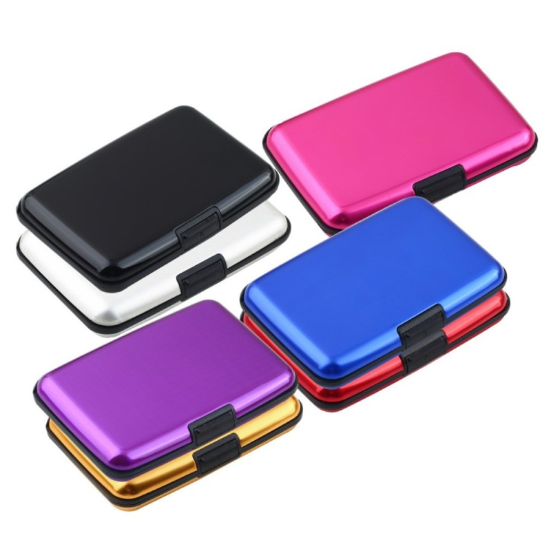 Rfid Blocking Aluminum Credt Card Case Wallet Fashion Business Card