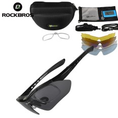 RockBros UV 400 With 5 Lens Professional Polarized Cycling Glasses Bike Goggles Outdoor Sports Cycling Bicycle