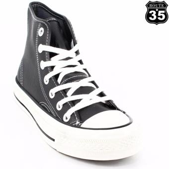 ROUTE35 Auger Sneakers High Cut Shoes (Black L5507)
