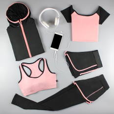 2019 Spring And Summer New Style Yoga Clothes Running Sports Women Suit Gym Quick-Drying Three Four-Piece Set Summer Tights By Taobao Collection.