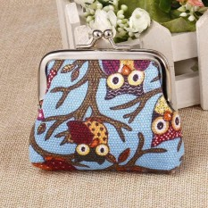 PHP 127. Sales New Fashion Women Girls Lady Canvas Multi-color Owl Pattern Coin Money Bag Purse Wallet - intlPHP127