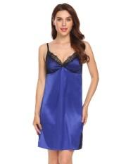 Sales New Sunwonder Women Spaghetti Strap Lace-Trimmed Nighties Sleepwear  Mini Dress(Black) 929137429