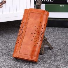 SAM Women Lady Leather Clutch Wallet Long Black Card Holder Purse Handbag Fashion Bags For Women