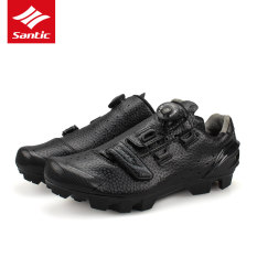 Santic Men Ultra Fiber Self-Locking Professional Mesh Shoes Cycling Shoes Black Breathable Nylon Tpu Strong Sole Auto-Lock Mountain Bike Shoes Sport Shoes Riding Equipment - Intl By Sireck Outdoor.