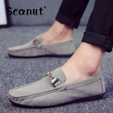 Seanut Men's Slip-Ons Casual England Moccasins Shoes (Grey)(Intl)【