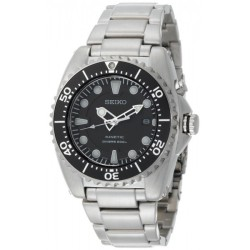 Seiko Kinetic Divers Men's Silver Strap Watch SKA371P1