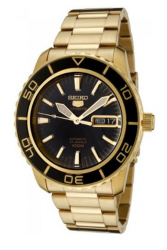 Seiko Automatic SNZH60K1 Gold All Stainless Steel Men's Watch