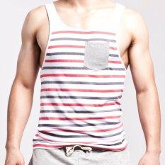 SEOBEAN Mens Fashion Sport Tank Tops Fitness Sleeveless Shirts O-Neck Casual Stripe Vest Tanks