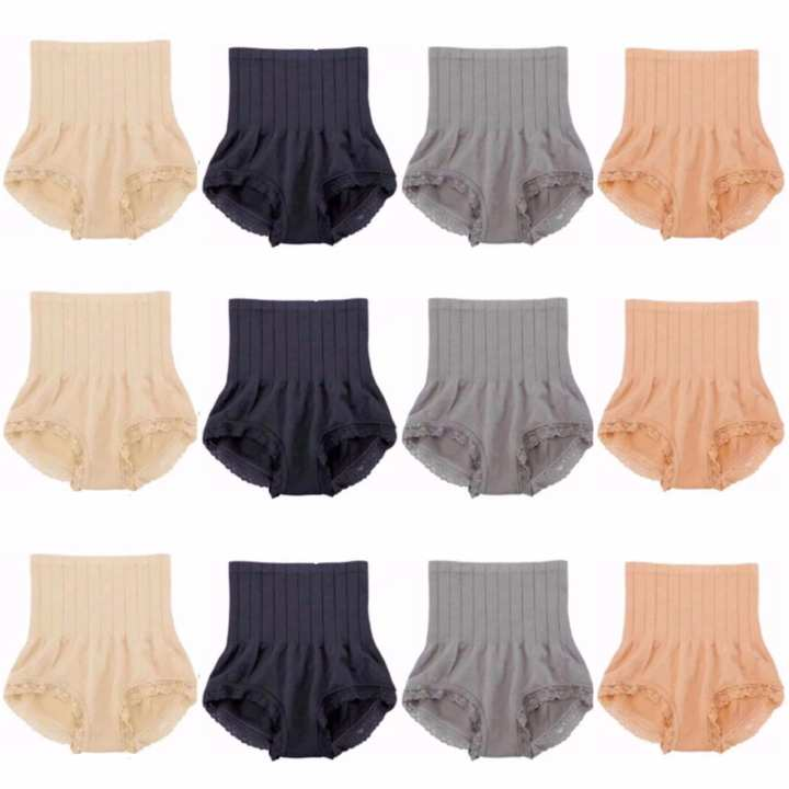 SET of 12 MUNAFIE Japan Seamless Hip Abdomen Fat Burning Waist Slim Panty Girdle (Color May Vary)