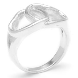 Silverworks R54085 Two Big Open Heart Ring (Silver)