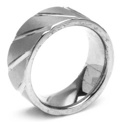 Silverworks T85 Plain Thick with Slant Tungsten Ring (Black)