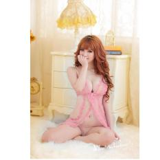 af4a15815246f Skadi Hot Girl B-201 Women Girlfriend Wife 2 Pieces Sweet Romantic Sexy Lady  Lingerie Baby Doll Dress See-through Lace Sleepwear Night Gown Wedding  Birthday ...