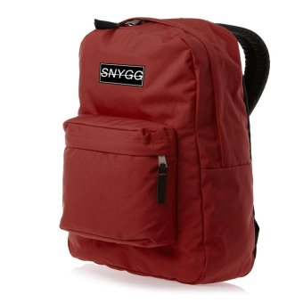 SNYGG Solid Backpack (Maroon)