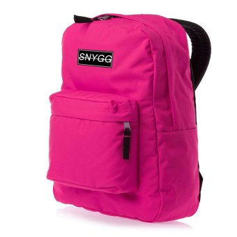 SNYGG Solid Backpack (Neon Pink)