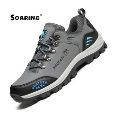 Soaring Men Hiking Shoes Sports Sneakers Waterproof Breathable Climbing Camping Outdoor Walking Trekking Shoes Men Athletic