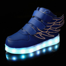 PHP 1.776. South Korean Style Children's Shoes With Wings LED SHOES for Light UP Shoes LED Luminous Shoes ...