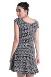 Sugar Clothing Jasim 14 Dress (Black/White) - thumbnail 3