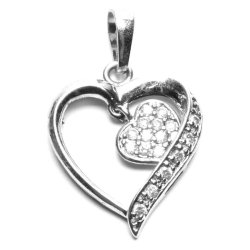 Sugar Joallerie Heart In My Heart Pendant (White)