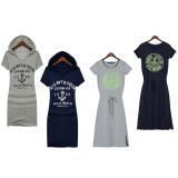 Summer Women's Fashion Casual Print Cotton Loose Dresses - thumbnail 2