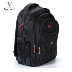 ba5e970bd7b1 Supermeet Men Backpack Large Capacity Bagpack for Boys Daypack Laptop Back  Pack Nylon Tide Black Men s