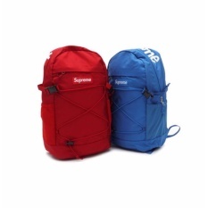 Supreme New Travel Bag Men and Women Fashion Waterproof Large Capacity Set  of 2 - Red fae49a6209f28