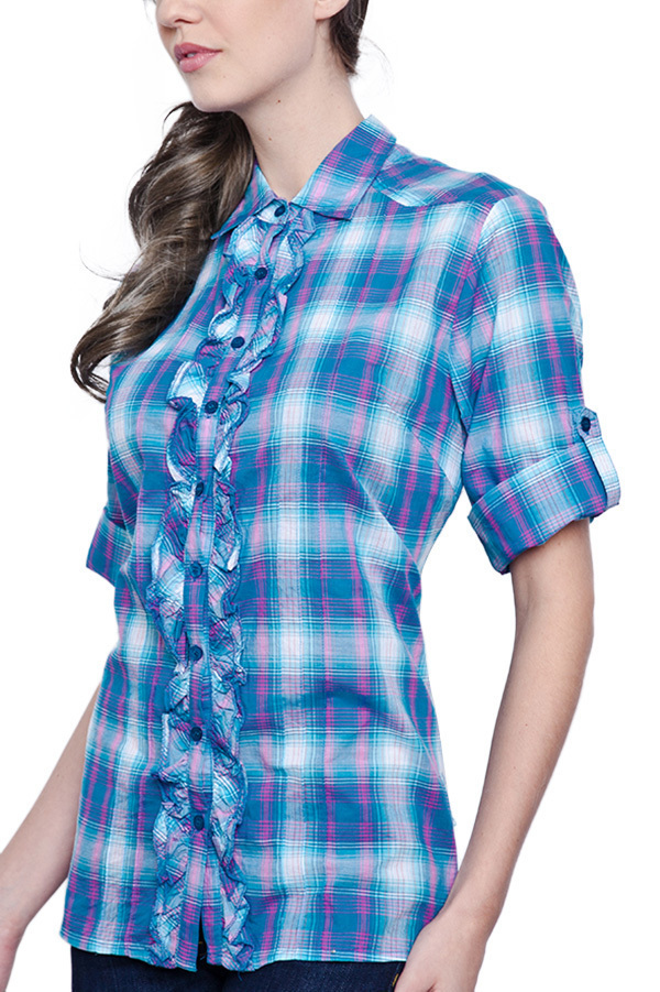 Terrie Tops Blouse (Blue)