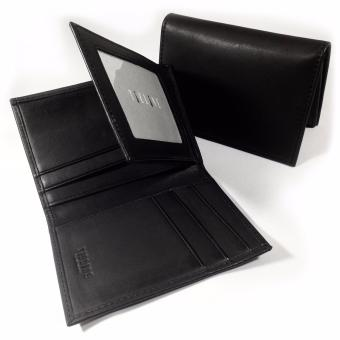 Tieline Bifold Leather Wallet (Black)