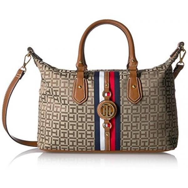 2b1cfc685 Tommy Hilfiger Bags for Women, Jaden Handbag, Tan Dark Chocolate - intl