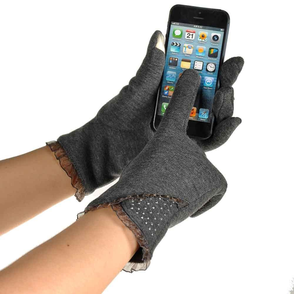 Touch Screen Winter Warm Wrist Gloves Mittens Gray product preview, discount at cheapest price