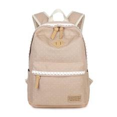 75c2d8d15ebd Tourya Vintage Canvas Women Backpack Cute School Bags For Teenagers Girls  Dot Printing Female Schoolbag Laptop