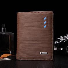 TP New Fashionable Vertical Pattern Men Leatherwallet -724 (Brown) - intl