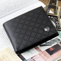 TP Slim Bifold Short Leather Men Wallet Db001 (Black) - intl