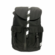93c148f4ca2 Trendy Travel Sport Waterproof Backpack (Plain Black With White Stripe)
