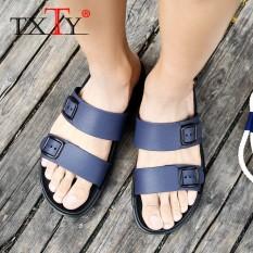 d91a782e6 TXTY Men Beach Shoes Outdoor Summer New Male Mens Slide Flip Flops Sandals  Tsinelas Mga sandalyas