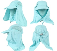 cbe8e7f61de Unisex 360o Neck Cover Sun Fishing Hat Ear Flap Bucket Outdoor UV  Protection Cap - intl